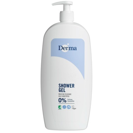Derma Family Douchegel 1000ml / 1L parfumvrij