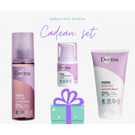 Derma eco woman cadeau set droge huid